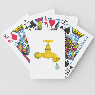 Water Spigot Bicycle Poker Cards