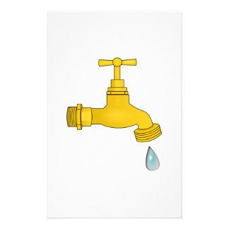 Water Spigot Stationery Design