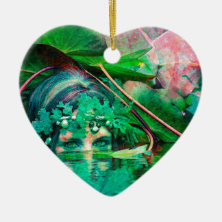 WATER SPIRIT CERAMIC HEART DECORATION