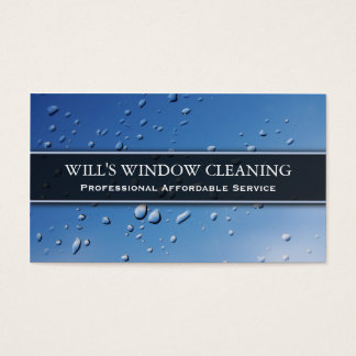 Water Splash, Blue Window Cleaner - Business Card
