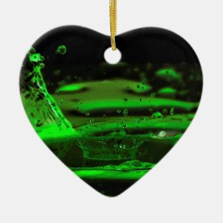 Water Splash Ceramic Heart Decoration