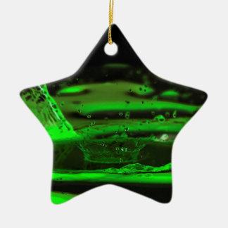 Water Splash Ceramic Star Decoration