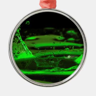 Water Splash Silver-Colored Round Decoration
