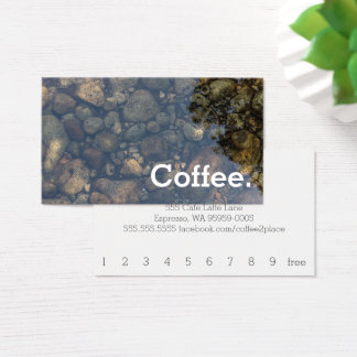 Water Stones Simple Loyalty Coffee Punch-Card Business Card