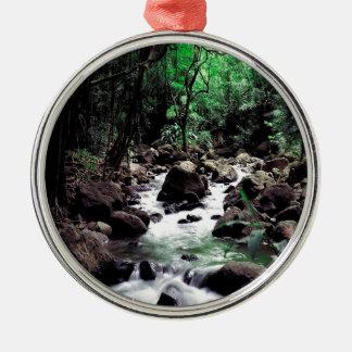 Water Stream Hawaii Metal Ornament