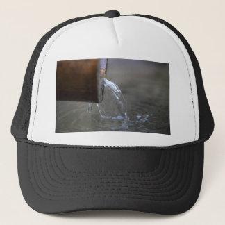Water stream on  a well trucker hat