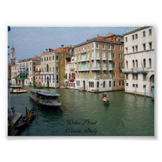 Water Street - Venice, Italy Poster