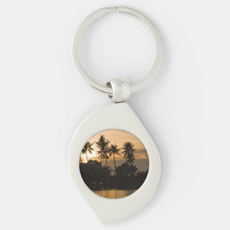 Water Sunset Palm Tree Nature Peace Love Destiny Keychains