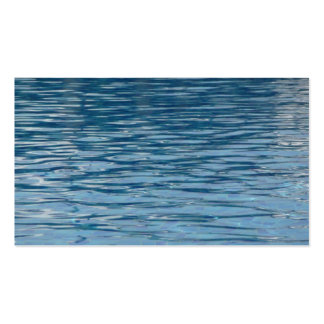 Water surface pack of standard business cards