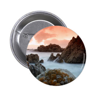 Water Surreal Sundown South Africa Pinback Buttons