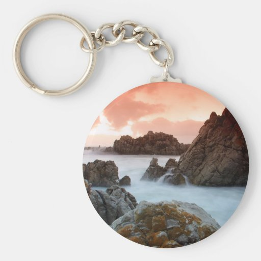 Water Surreal Sundown South Africa Keychains