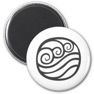 Water Symbol 6 Cm Round Magnet