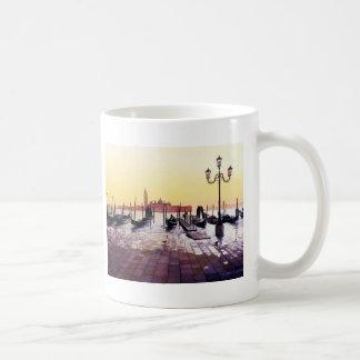 """Water Taxis"" Gondola Scene Watercolor Coffee Mug"