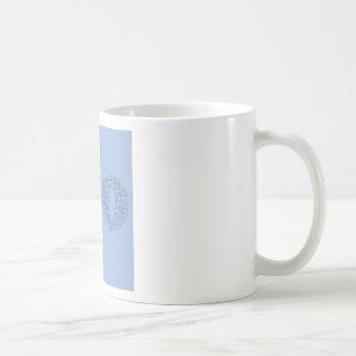 water text coffee mug