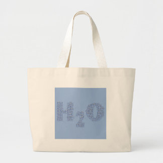 water text large tote bag