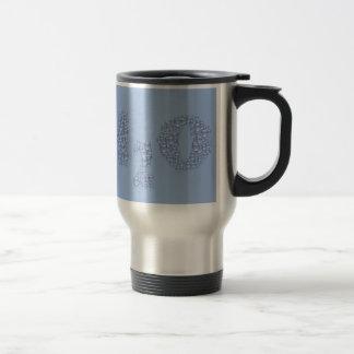 water text travel mug