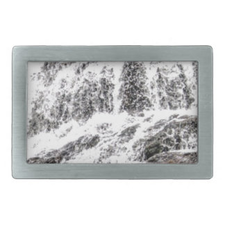 water texture scene rectangular belt buckle