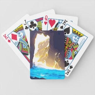 Water through Rock Carmel Bicycle Playing Cards