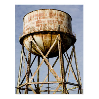 Water Tower at Alcatraz Postcard