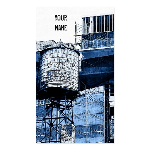 water tower construction business card