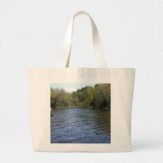 Water Tree Scene Jumbo Tote Bag