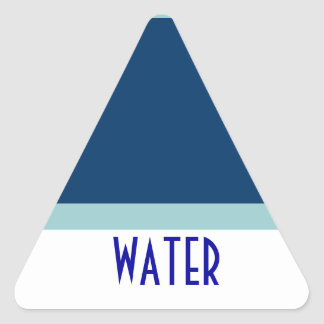 WATER triange sticker