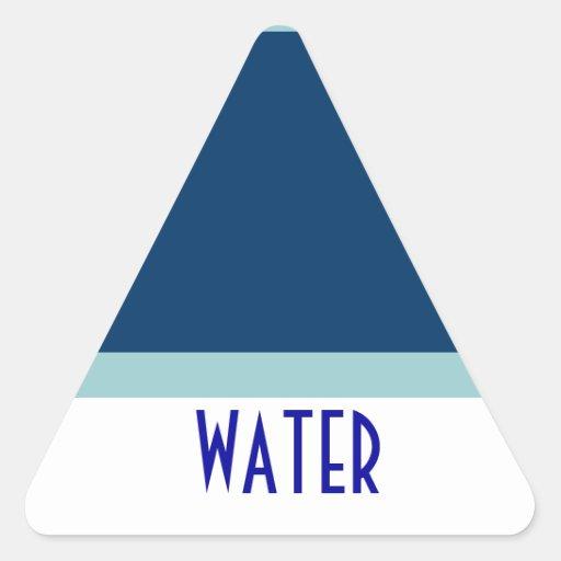 WATER triange sticker