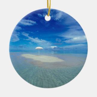 Water Tropical Oasis Ceramic Ornament