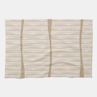 Water under sunset hand towels