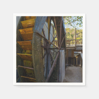 Water Wheel Dawt Mill Disposable Napkin