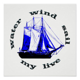 Water Wind Sail Poster