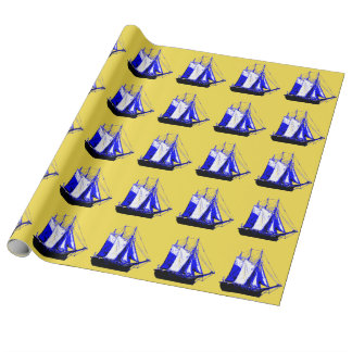 Water Wind Sail Wrapping Paper
