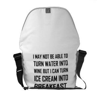 Water Wine Ice Cream Breakfast Joke Commuter Bags