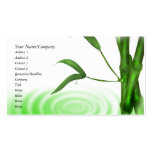 Water Wrop Water Ripple Bamboo Business Cards