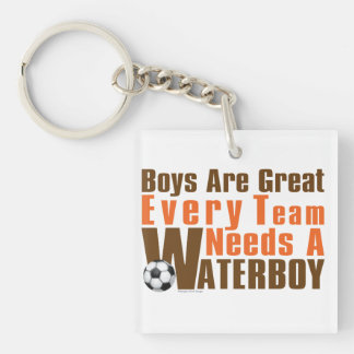 Waterboy Soccer Single-Sided Square Acrylic Key Ring