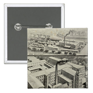 Waterbury Clock Co 15 Cm Square Badge