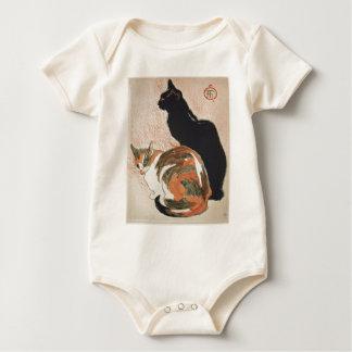 Watercolor - 2 Cats - Théophile Alexandre Steinlen Baby Bodysuit