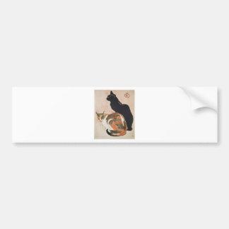 Watercolor - 2 Cats - Théophile Alexandre Steinlen Bumper Sticker