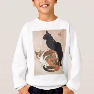 Watercolor - 2 Cats - Théophile Alexandre Steinlen Sweatshirt