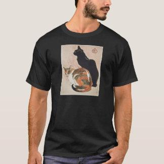 Watercolor - 2 Cats - Théophile Alexandre Steinlen T-Shirt