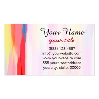 Watercolor Abstract Background 2 Business Card Templates