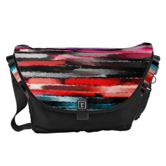 Watercolor Abstract Background Messenger Bags