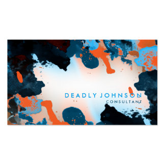 Watercolor Abstract Elegant Cool Blue Pack Of Standard Business Cards