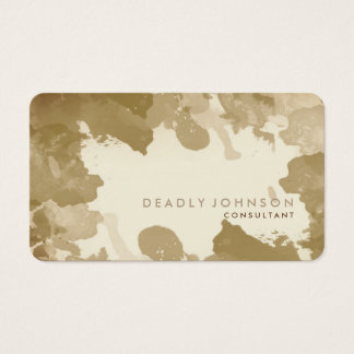 Watercolor Abstract Elegant Cool Yellow Gold Business Card