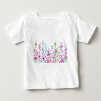 Watercolor abstract floral bed baby T-Shirt