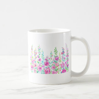 Watercolor abstract floral bed coffee mug