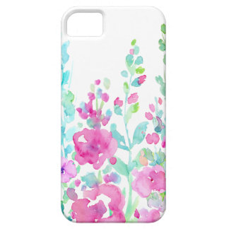 Watercolor abstract floral bed iPhone 5 case