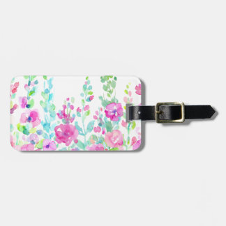 Watercolor abstract floral bed luggage tag