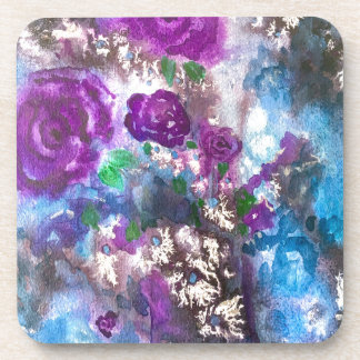 Watercolor Abstract Flowers Coaster