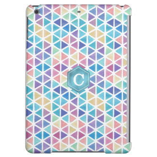 Watercolor Abstract Geometric (Coral Reef Tones) iPad Air Cover